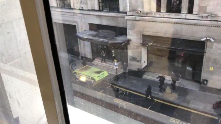 Armed police. Pic: London Live