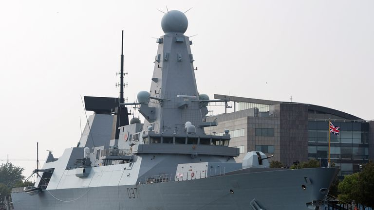 HMS Duncan was leading a NATO fleet through the Black Sea when the incident occurred