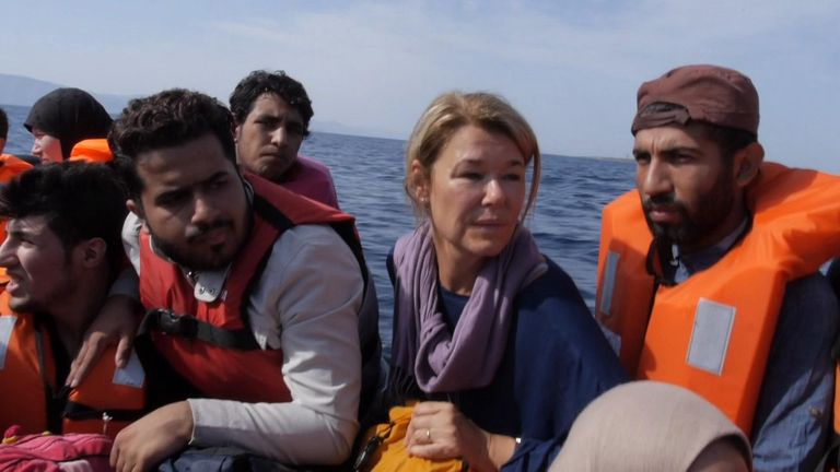 Sky's Alex Crawford joined migrants bound for Europe for part of their treacherous trip