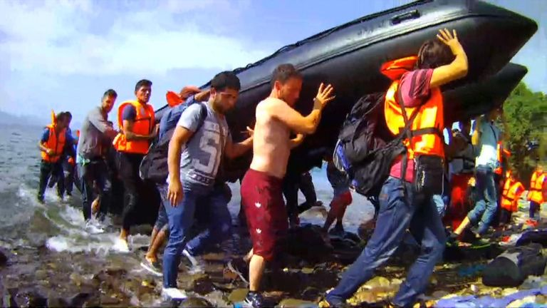 Women, children and babies were among those who crammed into the boats