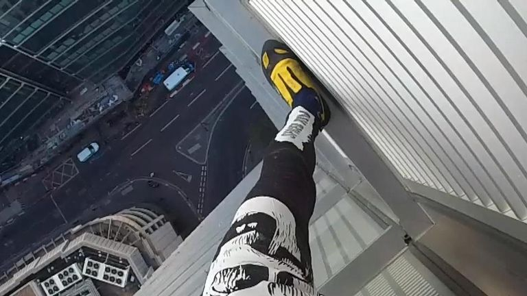 What the Human Spider saw when he climbed the Heron Tower