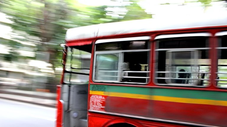 Police say it is unclear how many passengers were on the bus, which was speeding. File pic