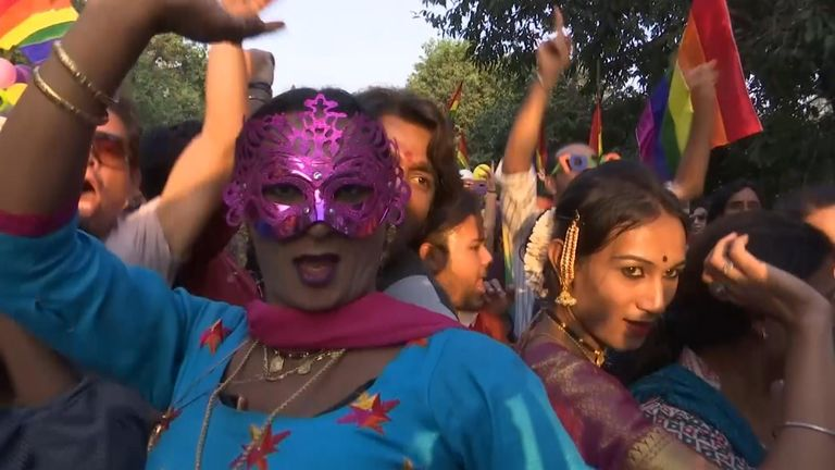 Swathes of people turn out for the annual Indian gay pride festival in New  Delhi