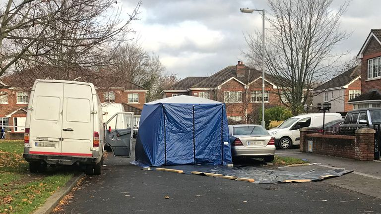 The body has been cordoned off and is still being examined