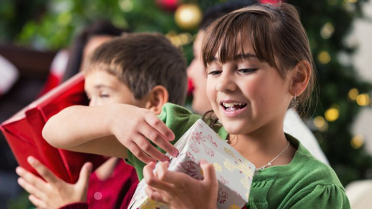 Generic image of presents being opened on Christmas Day
