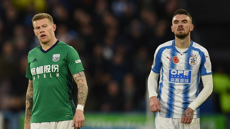 James McClean (L) refuses to wear a jersey emblazoned with the poppy