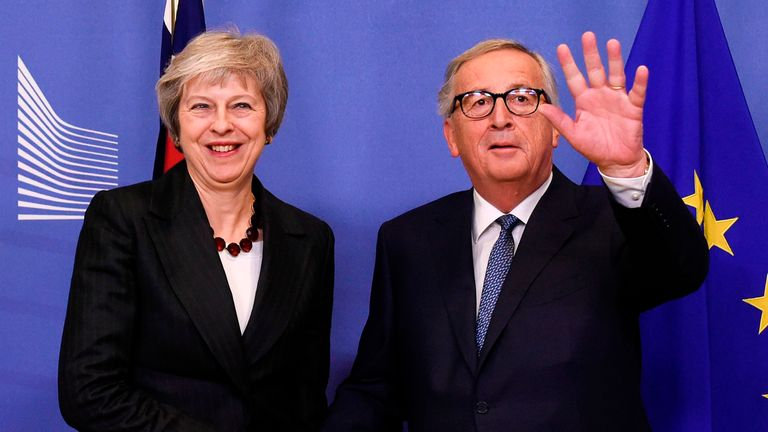 EU Commission President Jean-Claude Juncker and Prime Minister Theresa May earlier this week
