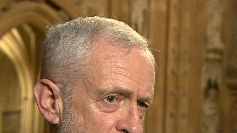 Jeremy Corbyn is not satisfied with what he has heard about the contents of the draft Brexit agreement