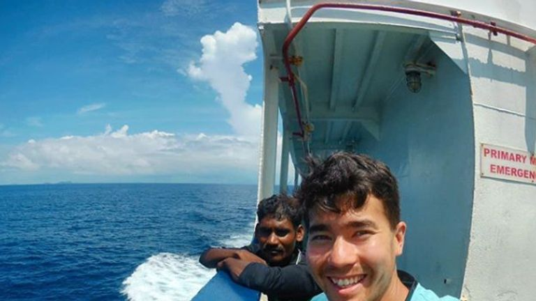 An instagram selfie by John Allen Chau, taken on his most recent trip to India