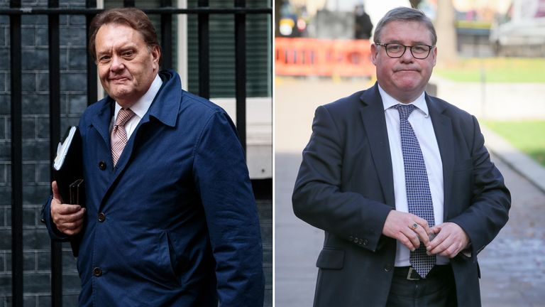 John Hayes (L) and Mark Francois