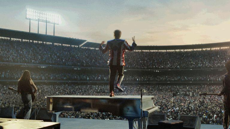 The stadium scene was done with CGI