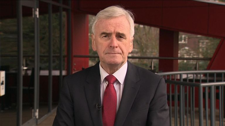 Labour MP John McDonnell says if Brexit deal doesn't protect the economy then the preference would be a general election.