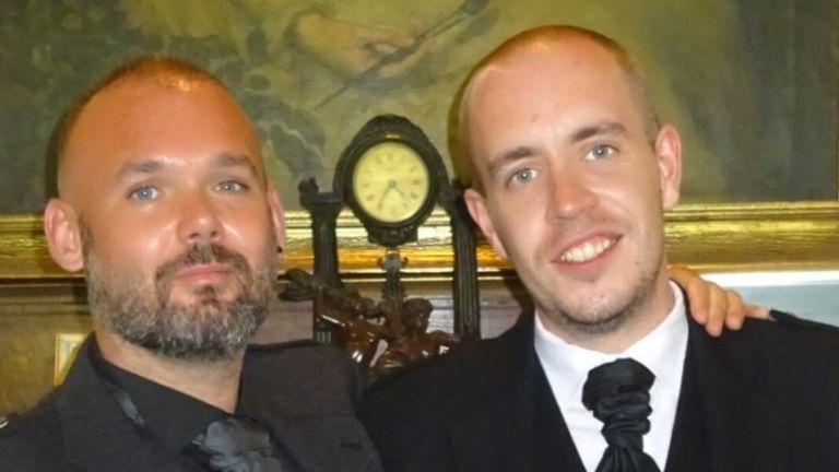 Jon Paul McAllister (L) with his partner Craig Park