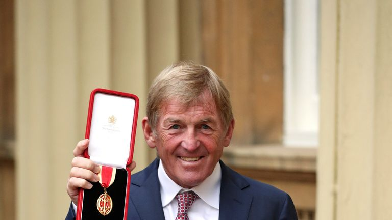 Liverpool legend Sir Kenny Dalglish after being knighted at an investiture ceremony at Buckingham Palace, London. PRESS ASSOCIATION Photo. Picture date: Friday November 16, 2018. See PA story ROYAL Investiture. Photo credit should read: Jonathan Brady/PA Wire