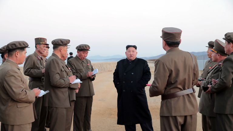 """Mr Kim is said to have not been able to hide his """"passionate joy"""" at the success of the test"""