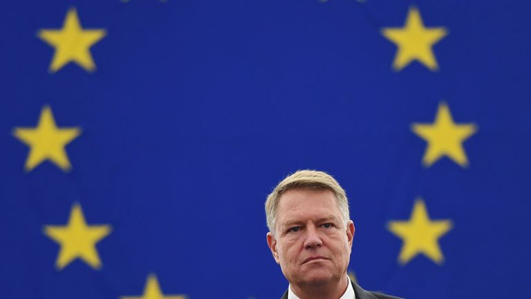 President Klaus Werner Iohannis says the government should step down