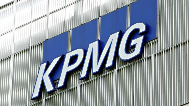 The KPMG building in Canary Wharf