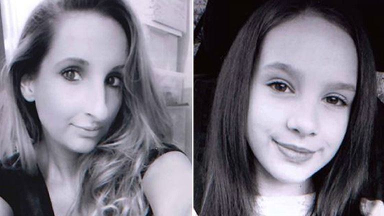 Laura Mortimer and her daughter Ella were found side by side
