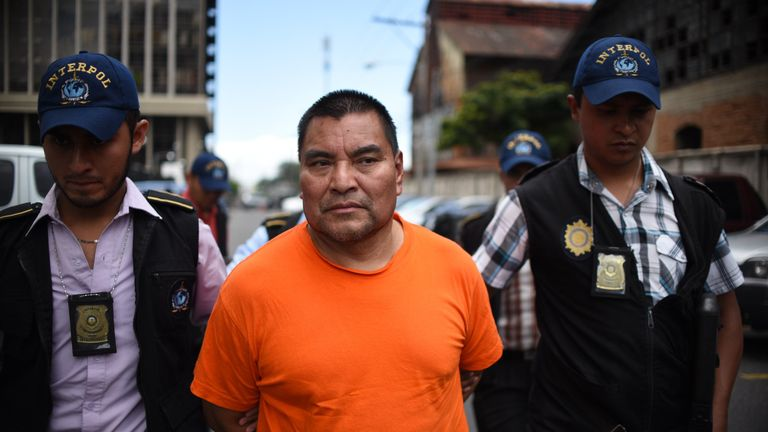 Former Guatemalan soldier Santos Lopez Alonzo participated in the massacre of 201 peasants in 1982 in the north of the country