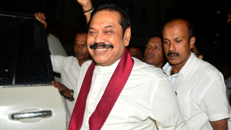 The EU is worried about Mahinda Rajapakse returning to power