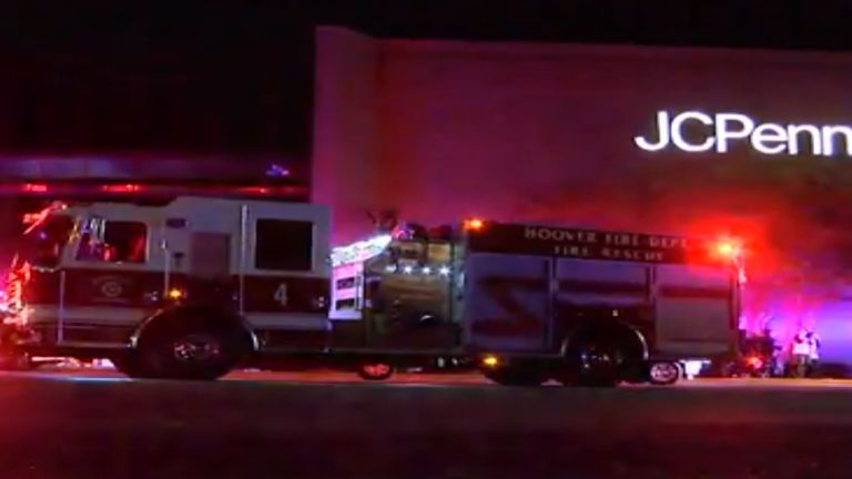 A number of shots were fired at the Alabama mall