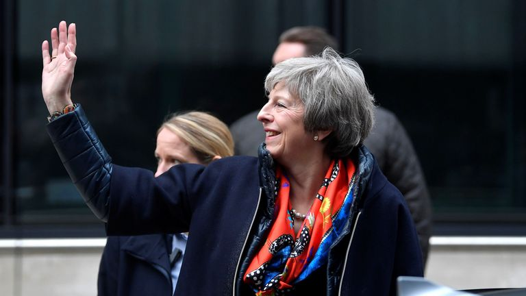 Theresa May is continuing a public relations offensive to sell her Brexit deal