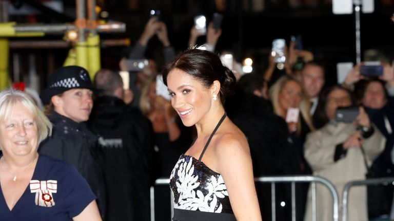 Meghan, Duchess of Sussex arrives at The Royal Variety Performance