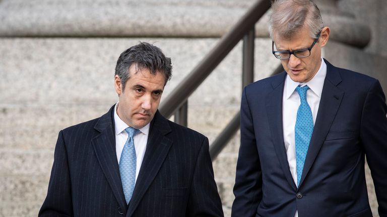 Michael Cohen leaves the court after a surprise appearance