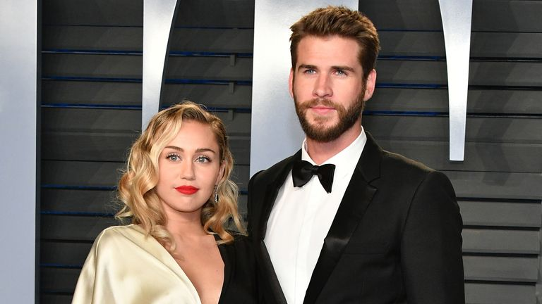 Miley Cyrus Confirms Wedding To Liam Hemsworth On Instagram And Twitter Ents Arts News Sky News