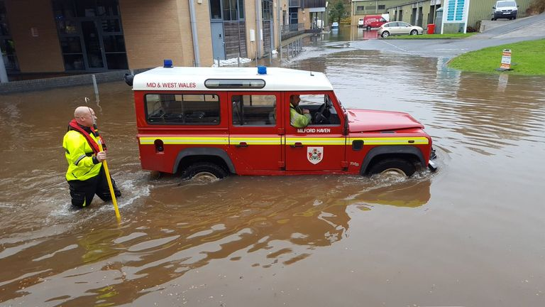 Flood warnings have been issued across some parts of the UK. Pic: @dsignstudio1992