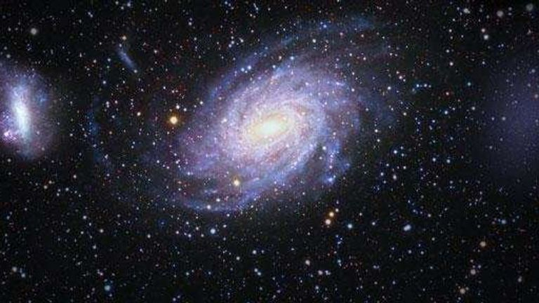 L-R: The Milky Way, and Antlia. Pic: V Belokurov