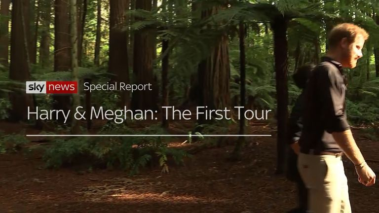 The first tour of the Duke and Duchess of Sussex