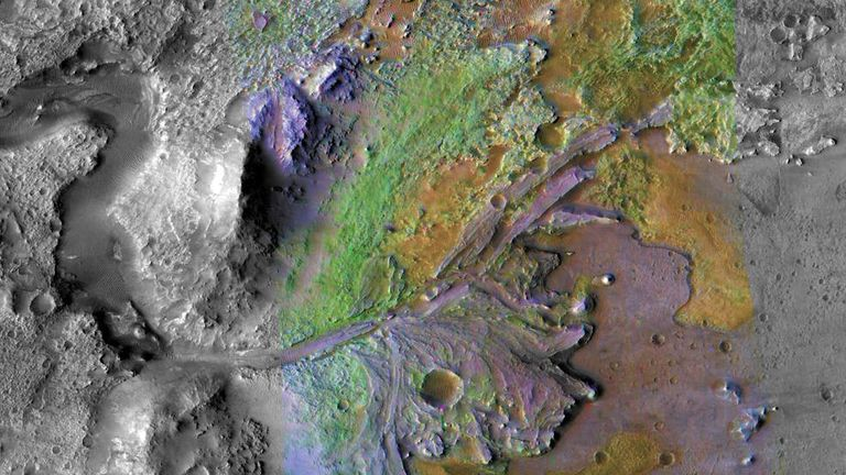 NASA has announced the rover will land in the Jezero crater. Pic: NASA