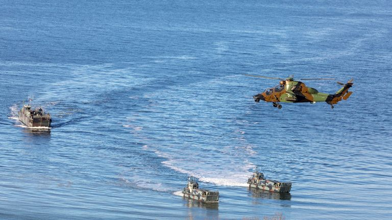 The exercise took place off the Trondheim coast, Norway