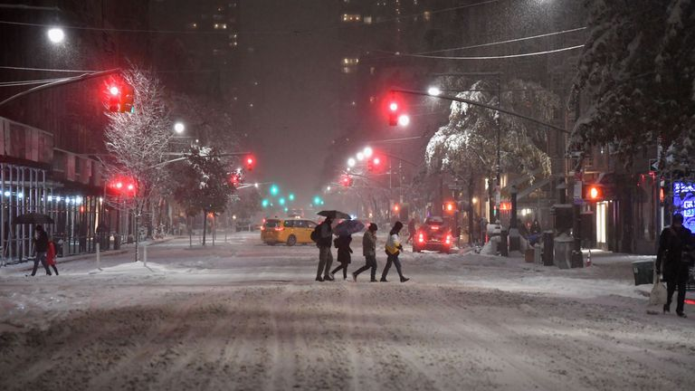 Manhattan has already seen its first snow of the winter