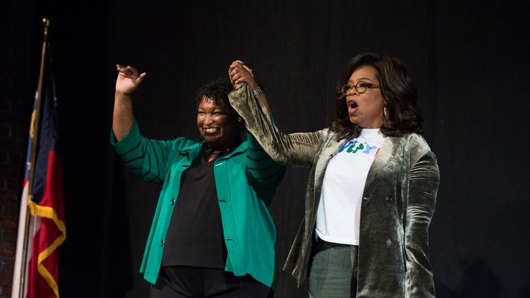 Oprah Winfrey is backing Stacey Abrams for Georgia's governor
