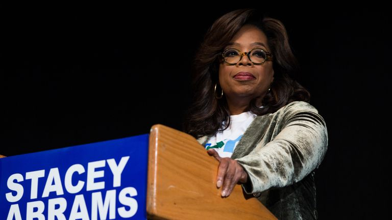 Oprah said her mother had 'lived a good life and is now at Peace'