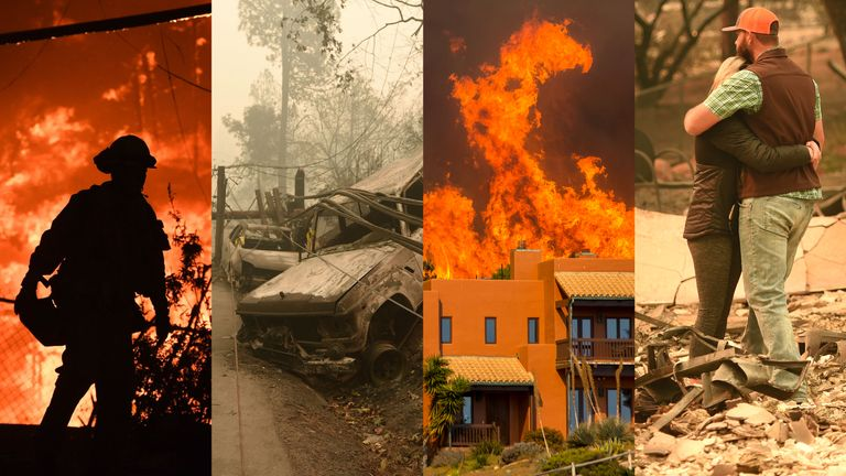 Images of the wildfire that hit Paradise, California