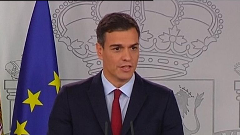 Spanish Prime Minister Pedro Sanchez says Spain will agree to support the Brexit deal after Britain and the European Union agreed to give it a say in the future of Gibraltar