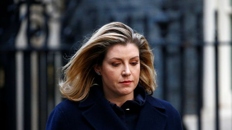 Penny Mordaunt leaves 10 Downing Street