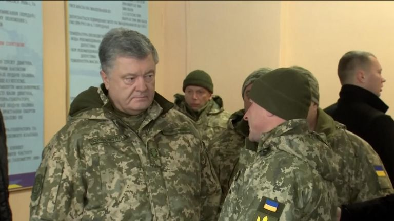 Petro Poroshenko says he is ready to defend Ukraine