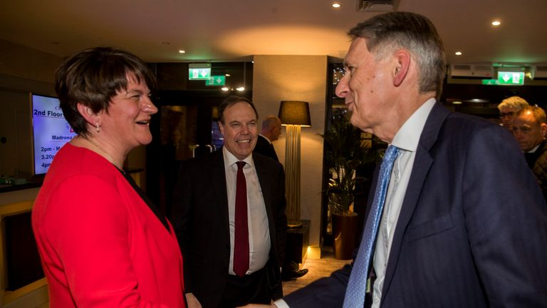 Philip Hammond meets Arlene Foster in Belfast