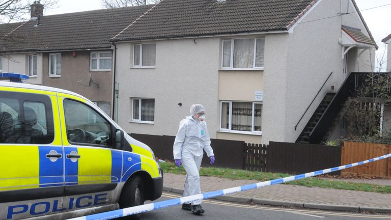 A forensic officer near the scene in Deedmore Road, Wood End, Coventry, after a a 16-year-old was stabbed to death