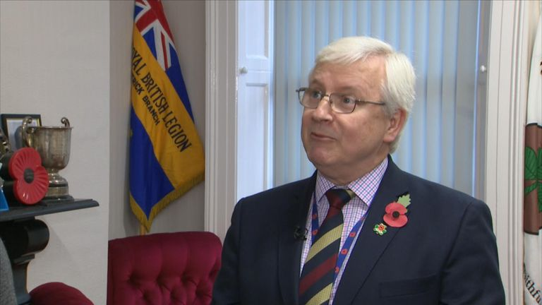 Brian Duffy said attitudes towards the poppy were changing