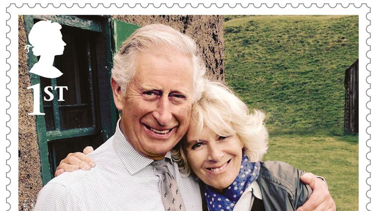 Prince Charles embraces wife Camilla in one of the images