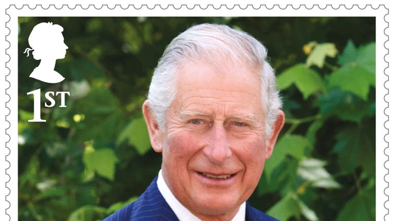 The stamps mark Charles' 70th birthday