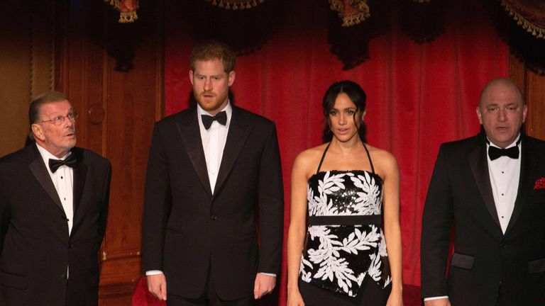 Meghan, Duchess of Sussex and Prince Harry, Duke of Sussex attend The Royal Variety Performance