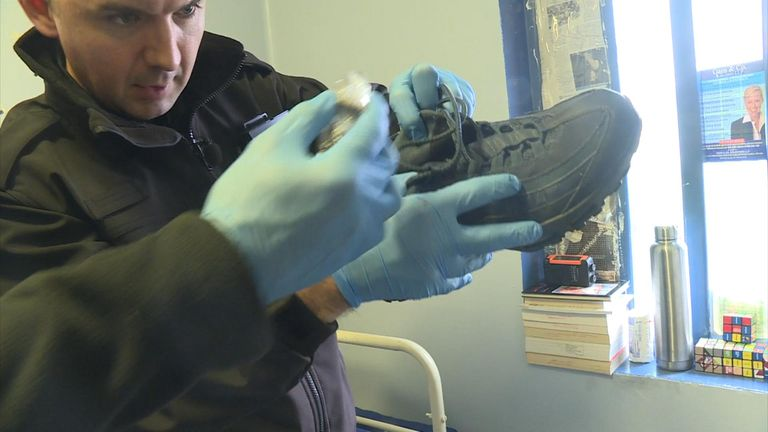The search teams are being used to help crackdown on drug use in prison