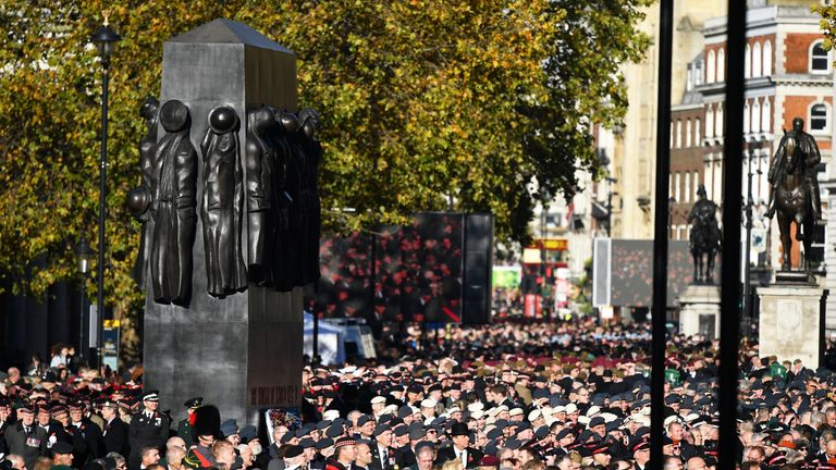 Remembrance ceremony at London's Cenotaph