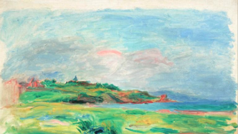 Golfe, mer, falaises vertes by Renoir. Pic: Dorotheum